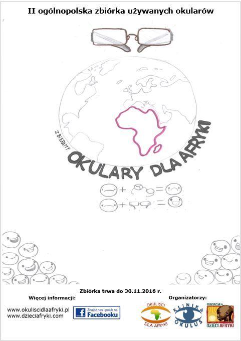 Oficjalny plakat II zbiórki Okulary dla Afryki